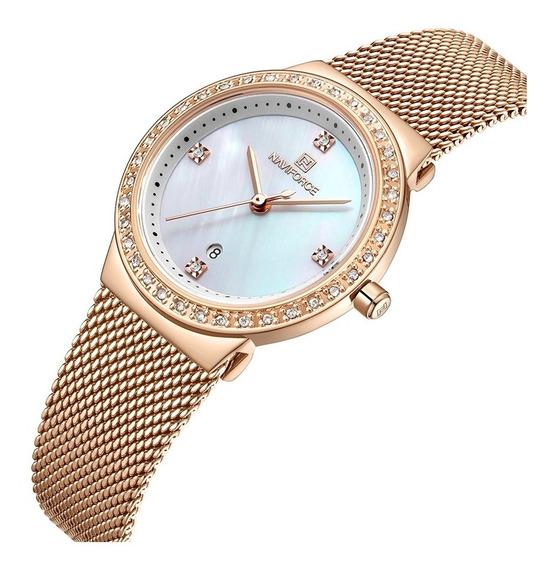 Relógio Naviforce Feminino Fashion Luxo Lançamento Original