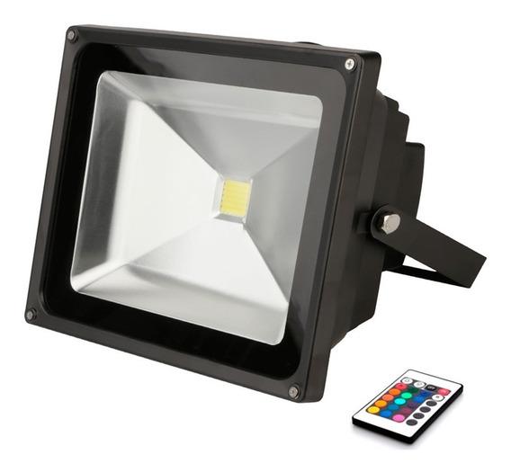 Kit C/ 2x Refletor Holofote Led Rgb 50w Bivolt Com Memória