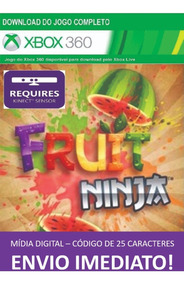 Xbox 360 Game Fruit Ninja Mídia Digital 25 Dígitos