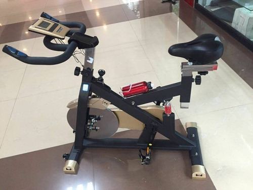 Bicicleta Spinning Profesional Volante De 30 Kg Yellow Fit