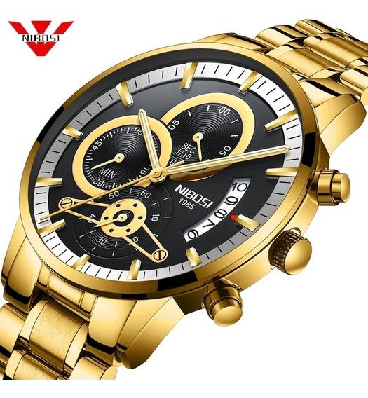 Relógio De Luxo Nibosi.