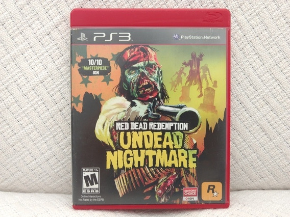 Jogo Ps3 Red Dead Redemption Undead Nightmare Mídia Física