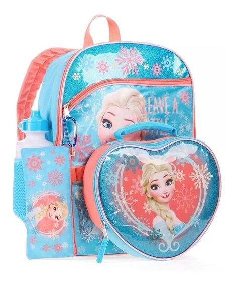Kit Mochila Infantil Disney Frozen 5 Piezas