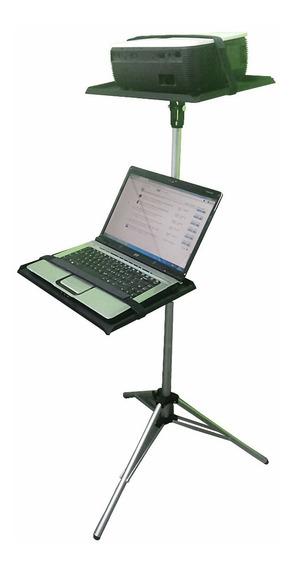 Suporte Projetor Tripé Pedestal C/acessorio Notebook Dvd