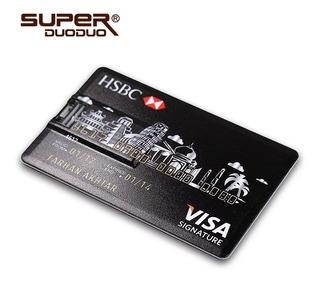 Pendrive 32gb Disfarçado De Cartão De Crédito