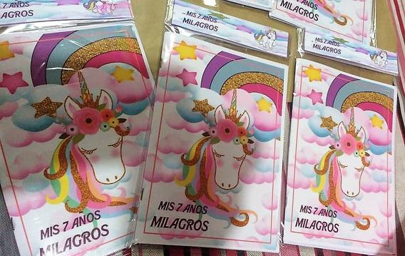 Libros Para Colorear Unicornio + Sticker, Personalizado