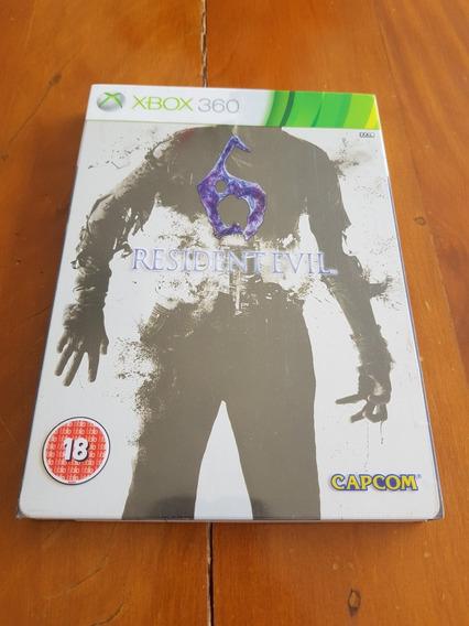 Resident Evil 6 Box Metal Steel Book Xbox360 Europeu