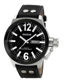 Relógio Masculino Magnum Original Pulseira Couro Ma31533t