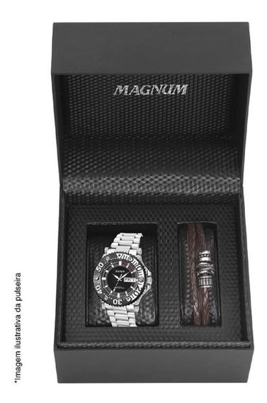 Kit Relógio Analógico Sports Masculino Magnum Ma32149c