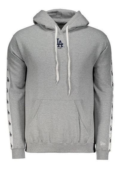 Moletom New Era Mlb Los Angeles Dodgers Cinza