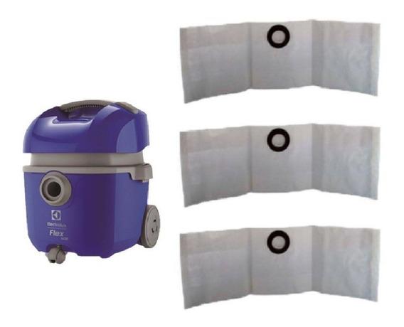 Sacos De Aspirador De Pó Eletrolux Flex 3 Unidades
