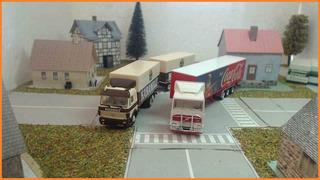 Ho 1/87 2 X Wiking Volvo,mercedes,herpa,diorama Nr.4249