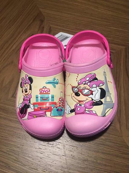 Crocs Minnie Disney Original Novo 12-13 30/31 Menina Infanti