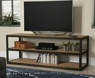 Mesa Para Tv Rack Mueble Hierro Madera Estilo Industrial
