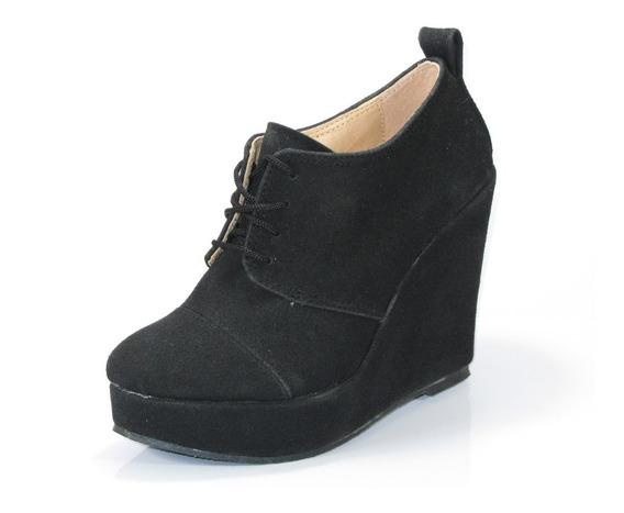 Zapato Gondola Berna Taco 11cm Plataforma 3cm