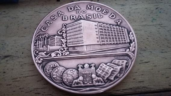 Medalão Da Inauguração Da Fabrica De Papel Casa Moeda 1969