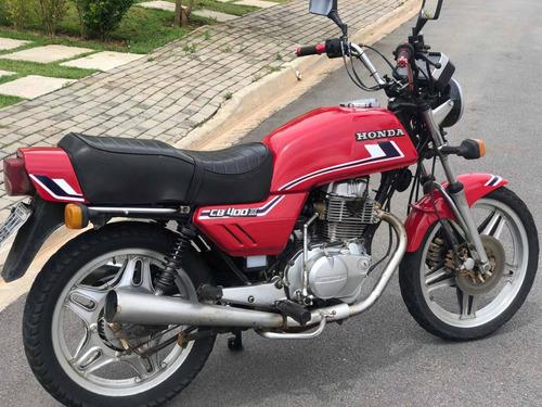 Honda Cb400 - 82/82 - Vermelha (relíquia)