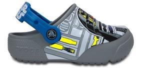 Zapato Crocs Niño Funlab Lights R2d2 Gris