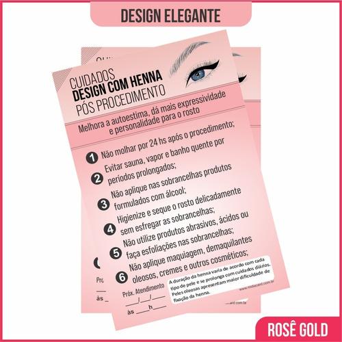 Imagem 1 de 2 de Cuidados No Design Sobrancelha E Henna Bloco Cliente Com 100