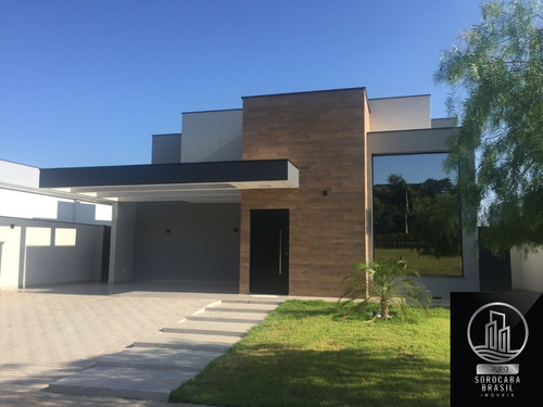 Casa Térrea Com Arquitetura Moderna No Condômino Alphaville Iv Terreno De 464m² - 189m² De Área Construída, 5 Domitórios Sendo 3 Suítes 1 Com Closet. - Ca00070 - 67654043
