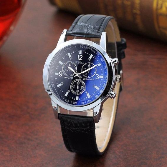 2 Relógios Luxo Masculino Geneva Pulso