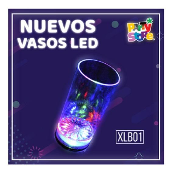 Vaso Trago Largo Rgb Luminoso Led X 20 Unidades Cotillon