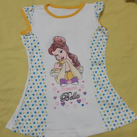 Blusas Princesa Bella Para Niñas. Talla 6-8 Precio 3$ C/u