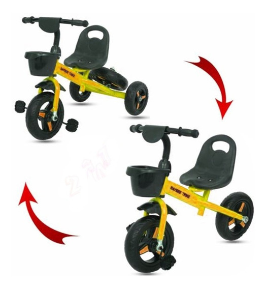 Triciclo 2 En 1 Mini Bike Convertible En Bici Infantil Bfun