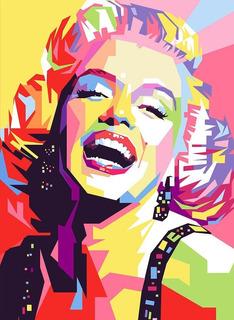 Cuadro Decorativo Moderno Marilyn Monroe Pop Art