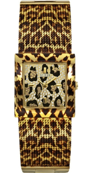 Relógio Feminino Guess Pulseira Esteirinha 92517lpgtda1 Onça