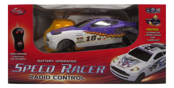 Autos De Carreras Con R/c Speed Racer Escala 1:24