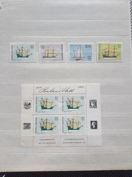 Argentina :serie Completa Barcos (gj 1884/1887) + Hb 34
