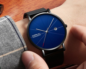 Relógio Masculino Original Crrju Luxo, Slim