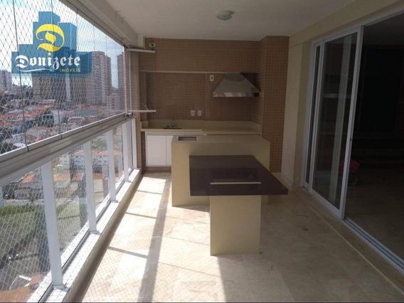 Apartamento Com 4 Dormitórios À Venda, 227 M² Por R$ 2.400.000,00 - Jardim - Santo André/sp - Ap10362