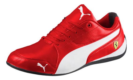 Tênis Masculino Couro Puma Ferrari Sf Drift Cat Vermelho
