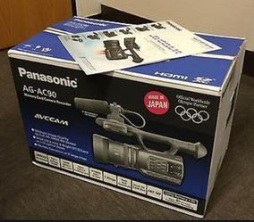 Filmadora Ag Ac 90 Panasonic Completa Vender Logo 2.850