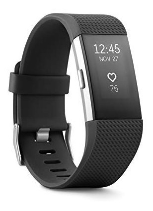 Fitbit Charge 2 Heart Rate + Fitness Wristband Black Small