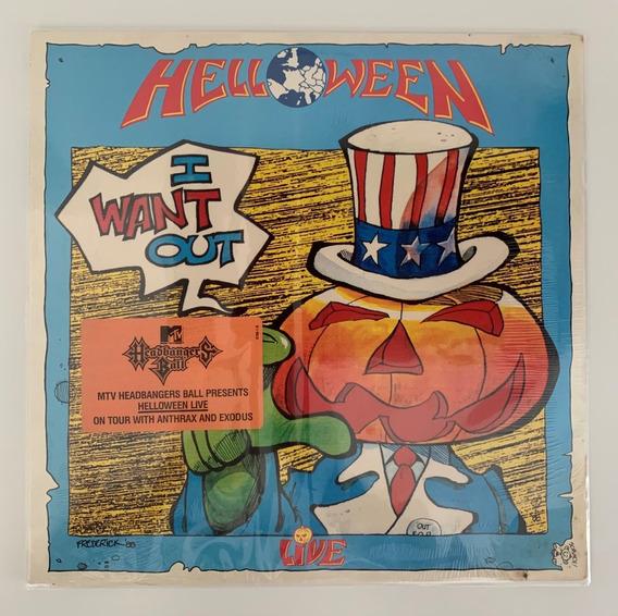 Lp Vinil Helloween I Want Out Live (1989) Raridade Lacrado!!