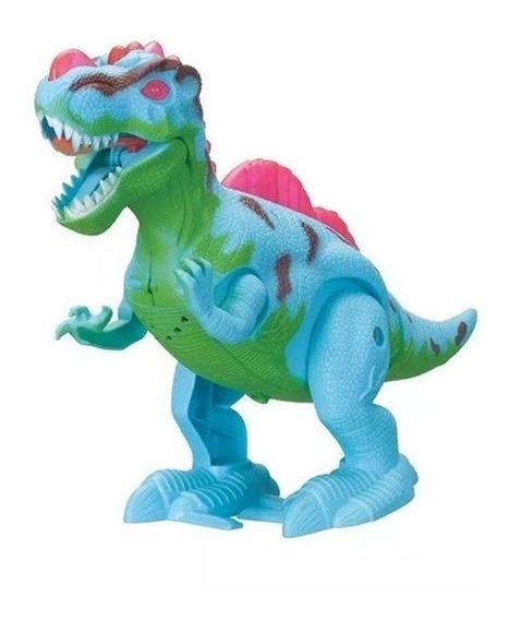 Dinossauro T-rex Anda E Emite Som Brinquedo