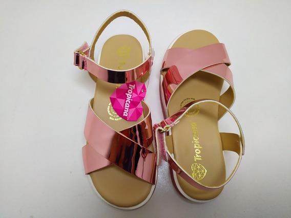 Sandalia Tropicana Para Niña 18/21.5 Color Cuarzo Mod 25001