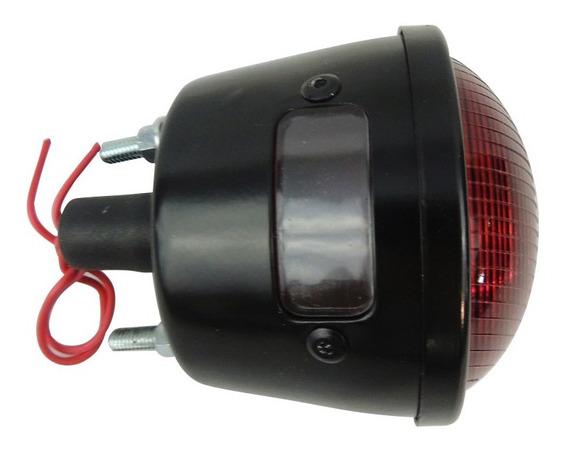 Lanterna Traseira Original Em Ferro Para Jeep Willys Com Aro