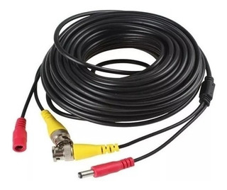 Cable Cctv Bnc + Power Para Camaras Seguridad 18 Mts Dvr