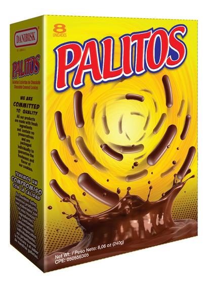 Caja 240g Galletas Palitos De Chocolate Danibisk Por Bulto C