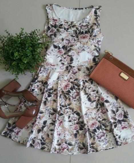 Vestido Curto Princesa Boneca Floral C/ Bojo Moda Blogueira