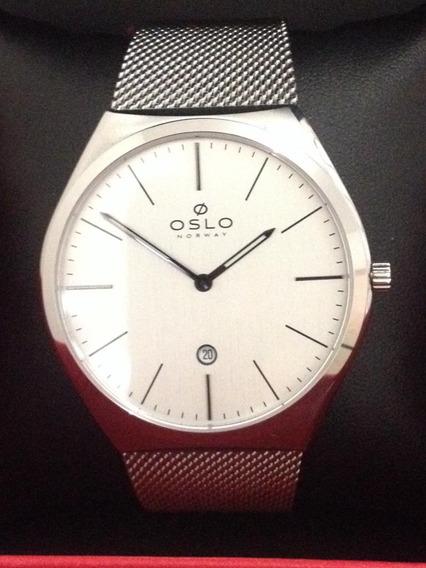 Relógio Oslo Ombsss9u0005 Todo Aço Inoxidável ,vidro Safira.