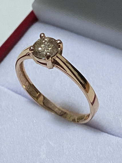 Anillo De Compromiso Diamante Natural 0.50ct En Oro Rosa
