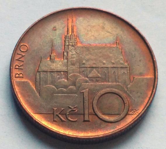 Moneda De República Checa, 10 Korun 1993.
