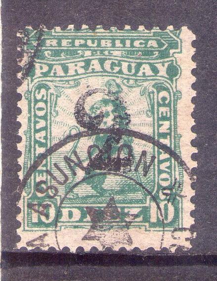 Paraguay Estampilla 1881. León Sobrecargado 2c. Oferta.