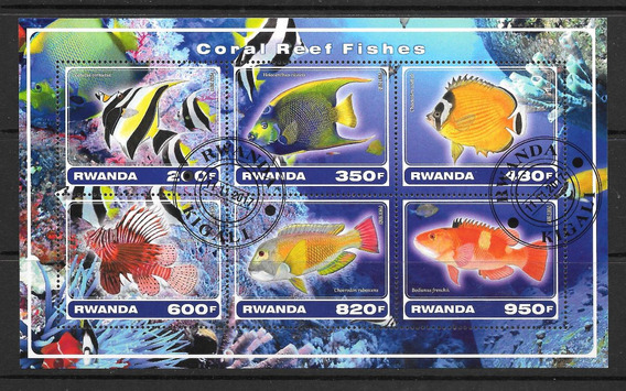Rwanda Africa 2017 Peces De Arrecifes Coral Hb Pde Cto