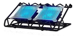 Base Para Notebook Gamer 2 Coolers Inclinable Noga Ng-z009 E
